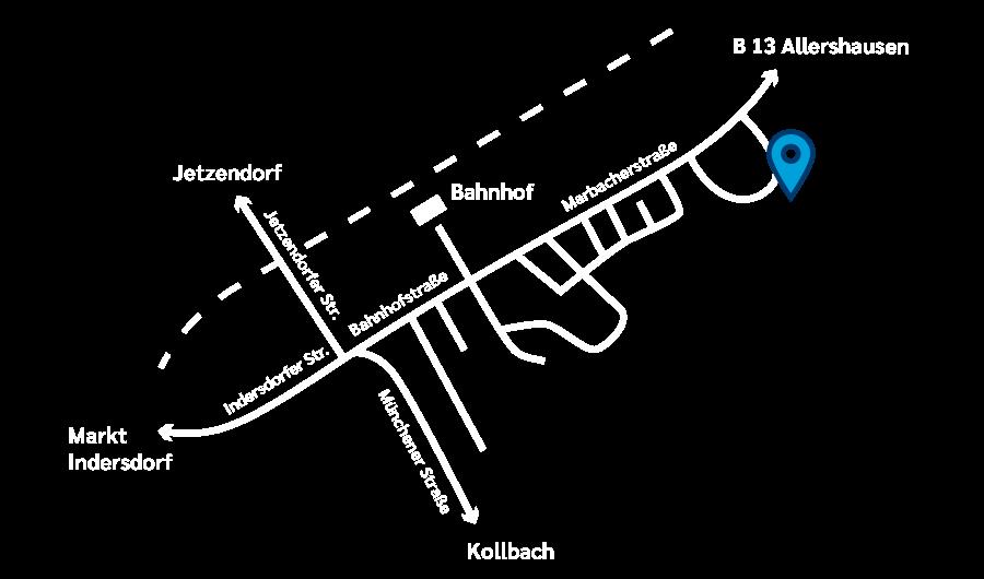 Kiermeir Zahntechnik - Anfahrtskizze